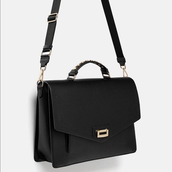 Zara Handbags - Zara   Black Office City Crossbody Bag